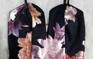 Charlotte Russe Dresses - Charlotte Russe Floral V Wire Skater Dress 549bd399b